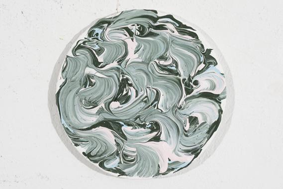 2014, ø 20 cm, Acryl auf Karton