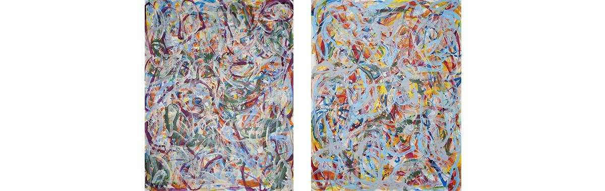 2, 2019, twosome, je 230 cm x 180 cm, Acryl auf Leinwand